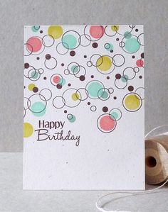 print circles on cardstock then dot with colors