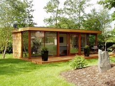Rooms - bespoke, eco build UK nationwide with 10 year guarantee Bespoke Garden Rooms, Offices & Gyms, Garden Buildings, Sun Rooms Backyard Studio, Backyard Sheds, Garden Studio, Studio Shed, Outdoor Office, Casas Containers, Garden Design, House Design, Garden Buildings