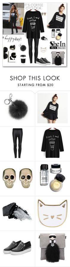 """""""Shein Black Print Long T-Shirt"""" by ludmyla-stoyan ❤ liked on Polyvore featuring Michael Kors, kenzi w, Givenchy, Bobbi Brown Cosmetics, Gorgeous Cosmetics, Des Petits Hauts, Hannah, The Cellar, women's clothing and women's fashion"""