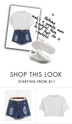 """Untitled #925"" by elly-langhorn ❤ liked on Polyvore featuring Hope and Puma"