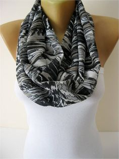 Only 9.90 USD  Infinity Scarf Shawl Circle Scarf by MebaDesign, $9.90