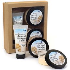 Mediterranean Almond Gift Collection      , Treat yourself or someone special to a truly indulgent body-care kit. Packed with wholesome and nourishing nut oils, this pack contains full sized body wash, body scrub and body butter.