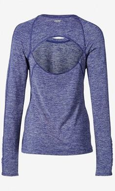blue marl EXP core back cutout tee from EXPRESS