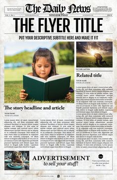 Page Newspaper Illustrator  Newspaper Template And Flyer Template