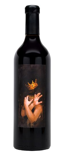 All Or Nothing 2013 Red Wine from the Napa Valley Tank Winery features the work of Shawn Barber on the label