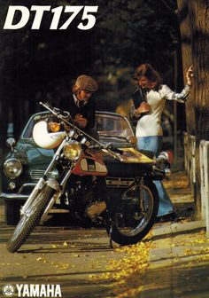 1975 Yamaha DT175 DT 175 Enduro 4 Pages Motorcycle Brochure | eBay