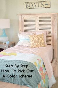 Step by step instructions for picking out a color scheme.