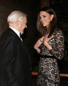 The Duchess of Cambridge and Sir Richard Attenborough at the Natural History Museum [PA] 12.11.13