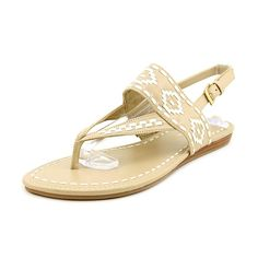 1b462fa951e7b4 Marc Fisher Women s Flat Thong Sandals in Natural Multi Size The style name    style number is Sari 2   Color  Natural Multi. Width  B(M).