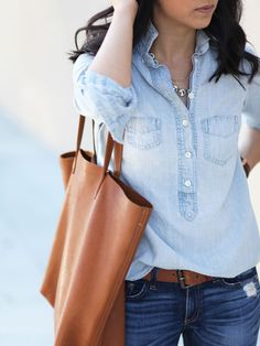 Fashion Fix: Spijkerblouse - My Simply Special