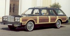 1980 Chrysler LeBaron Town & Country Wagon. We had one without the side panels..haha