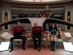 My god does TNG look good in HD. The first season uniforms look really good.