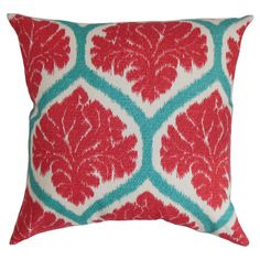 Featuring a trellis pattern with stylised leaf detailing, this colourful cushion is the perfect complement to your neutral living room or eclectic bedroom sc...