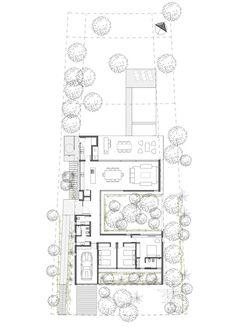 Galerie de la maison C / Estudio PKa - 24 Layouts Casa, House Layouts, Architecture Concept Drawings, Architecture Plan, Best House Plans, House Floor Plans, Atrium Design, Architectural Floor Plans, Casa Patio