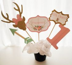5 Piece Oh Deer Centerpiece Deer Birthday Party Deer Party