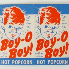vintage popcorn box 50s - mid-century packaging Vintage Logo, Vintage Graphic Design, Vintage Lettering, Vintage Labels, Retro Design, Vintage Ads, Vintage Posters, Vintage Designs, Vintage Circus