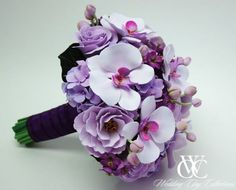 Purple Bouquet with Orchids! So Lovely!