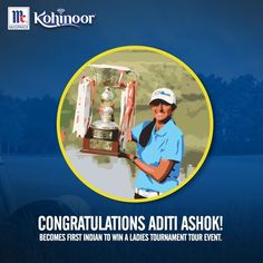 Kohinoor congratulates golfing star Aditi Ashok on becoming the first Indian player to win a Ladies European Tour title. The 18-year-old has surely made India proud! #KohinoorWomenAchievers