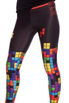 Polainas de Tetris ropa Cosplay pantalones para mujer traje