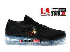 9b1d85f2fcfb Nike Air VaporMax - Chaussure de Running Nike Pas Cher Pour Homme Noir Or -  Voir
