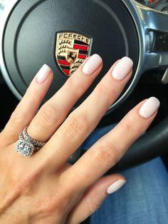 shellac nails Gel-Ngel /// CND-Schellack am - nails Shellac Nail Designs, Nails Design, Cnd Nails, White Shellac Nails, Short Nails Shellac, Neutral Gel Nails, Simple Gel Nails, Pale Pink Nails, Light Pink Nails
