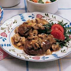 ### Beef Tenderloin in Mushroom Sauce: my husband + I made this for Valentine's Day and it was awesome!