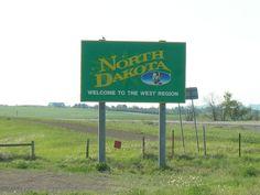 May 2012 - Entering North Dakota from Montana on Interstate 94