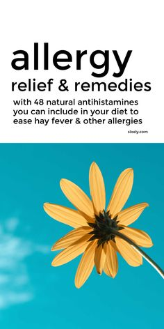Get natural allergy relief from hay fever and other seasonal allergies with these natural antihistamines that you can easily include in your everyday diet as a natural remedy for allergies. #allergyrelief #hayfever #allergies #naturalremedies