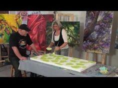 ▶ Amazing Acrylic Art Lesson with De Gillett - YouTube