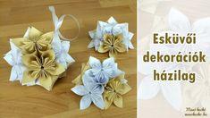 Esküvői dekoráció készítése – Origami virággömb Origami, Napkins, Tableware, Wedding, Valentines Day Weddings, Dinnerware, Towels, Dinner Napkins, Tablewares