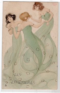 G10151 French Tuck, Raphael Kirchner, Tuck 375, Beaautiful card, Les Ephemeres in Collectibles, Postcards, Artist Signed | eBay