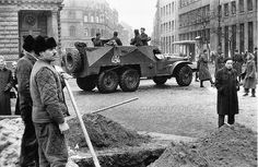 Hungarian Revolution 1956 The Eleven, Budapest Hungary, Soviet Union, Old Pictures, Historical Photos, Troops, Revolution, Arrow, Monster Trucks
