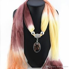 Elegant Colored Glaze Pendent Silk Scarves Gradient Design Chiffon Scarf Wrapper Girls Outdoor Shawl hw003