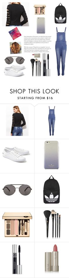 """""""Everyday sober look"""" by blaireswift ❤ liked on Polyvore featuring Boohoo, Lacoste, Kate Spade, Seafolly, Topshop, Lancôme, Christian Dior and Ilia"""