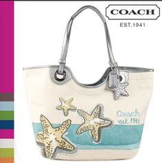 Last One RARE Coach Summer Tote with Starfish Motif 19212 Brand New   eBay PERFECT CHRISTMAS GIFT #coach #purse #vacation #beach