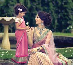Asian Indian Wedding - Little Girls Sari, Bridal Sari Big Fat Indian Wedding, Indian Bridal, Indian Weddings, Indian Attire, Indian Wear, Indian Style, Saris, Indian Dresses, Indian Outfits
