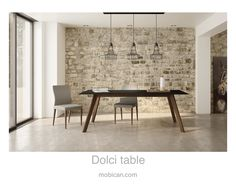 Click here to see Mobican's Dolci table surrounded by our Dali chairs. | Cliquez ici pour voir la table Dolci de Mobican  accompagnée de nos chaises Dali: http://mobican.com/en/dolci/ #mobican #table #diningroom #madeincanada #contemporary #wood #furniture