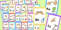 Sign Language Alphabet Image Flash Cards - flash cards
