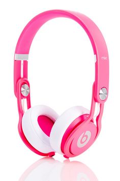 Neon Pink Beats Mixr Headphones