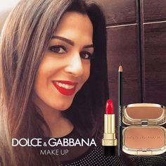@lamitta_alahl's #DGBeauty look accentuates her complexion with The Bronzer, intensifies the colour of her eyes with The Khol Pencil and gives a final touch with a passionate red Dolce Matte Lipstick  #Dgwomenlovemakeup