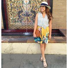Tropicale Skirt #Anthropologie #MyAnthroPhoto
