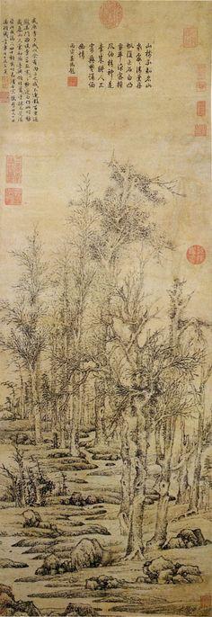 Wintry trees after Li Cheng - Wen Zhengming - Wikipedia, the free encyclopedia