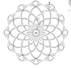 Motif № TWO. Would make a fun bun cover Crochet Snowflake Pattern, Crochet Mandala Pattern, Crochet Snowflakes, Crochet Flower Patterns, Crochet Diagram, Crochet Stitches Patterns, Crochet Chart, Crochet Designs, Crochet Flowers