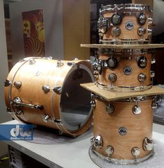 DW Natural Cherry Shells with Nickel Hardware.