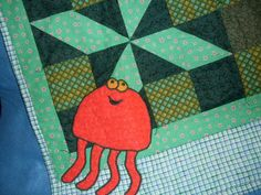 Happy Dancing Jelly Fish Quilt by Jusadreamin on Etsy, $35.00
