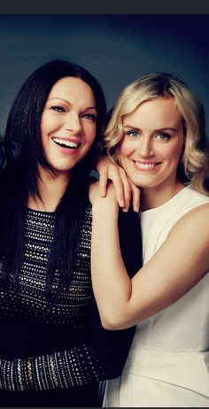 Laura Prepon and Taylor Schilling #orangeisthenewblack