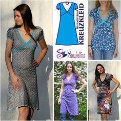 (D) free pattern size Schnabelinas Welt: Ebook Kreuzkleid online Sewing Patterns Free, Free Sewing, Clothing Patterns, Dress Patterns, Free Pattern, Diy Clothing, Sewing Clothes, Diy Kleidung, Diy Mode