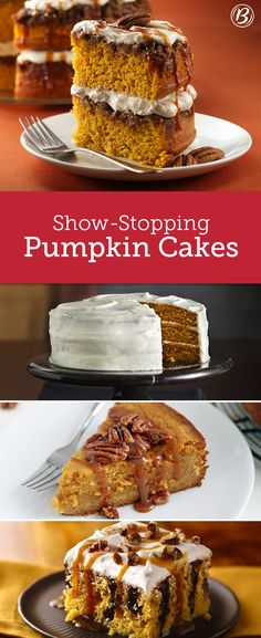 Impress your guests with these gorgeous pumpkin cakes that only look like they took forever to make. From crowd-sized poke cakes to towering, layered masterpieces, these recipes were designed to entice.