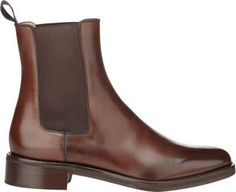 $1,395, Dark Brown Leather Chelsea Boots: Christian Louboutin Ludovic Chelsea Boots. Sold by Barneys New York. Click for more info: https://lookastic.com/men/shop_items/267322/redirect