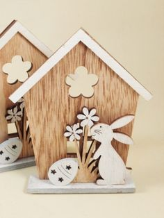 Woodworking Projects For Kids Kids Woodworking Projects, Wood Projects, Woodworking Classes, Easter Art, Easter Crafts, Wood Crafts, Diy And Crafts, Diy Ostern, Wood Ornaments